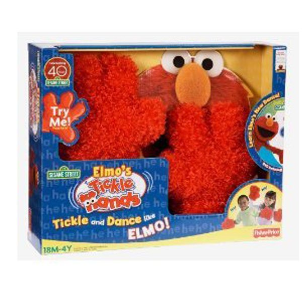 Celebrate 40 Years Fisher Price ELMO TICKLE HANDS + DVD Dance Gift Toddler 18M+