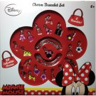 20 Collectible Disney Minnie Mouse Bow-Tique Charms + Bracelet Set Girls Gift 6+