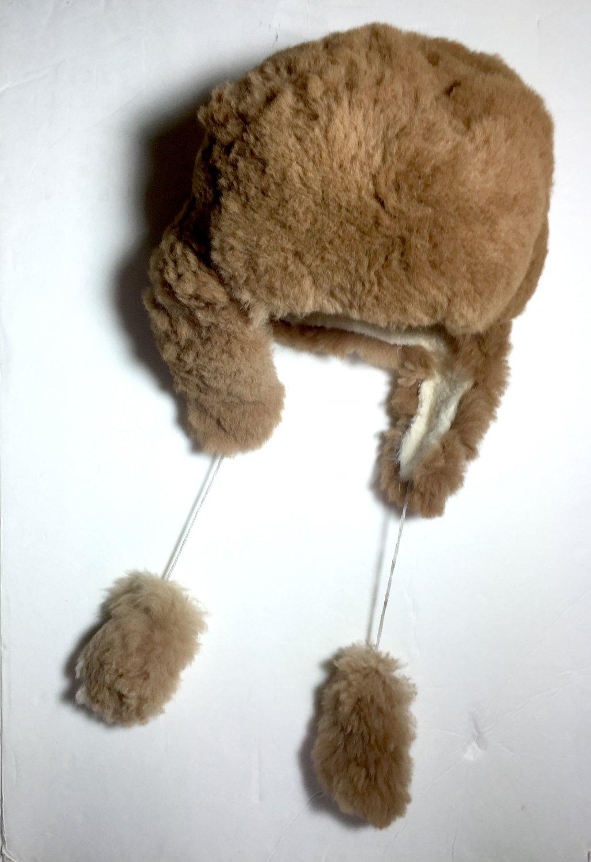 HANDMADE Size 7 Wool Alpaca Brown Winter Unisex Russian Ushanka Earflap Hat