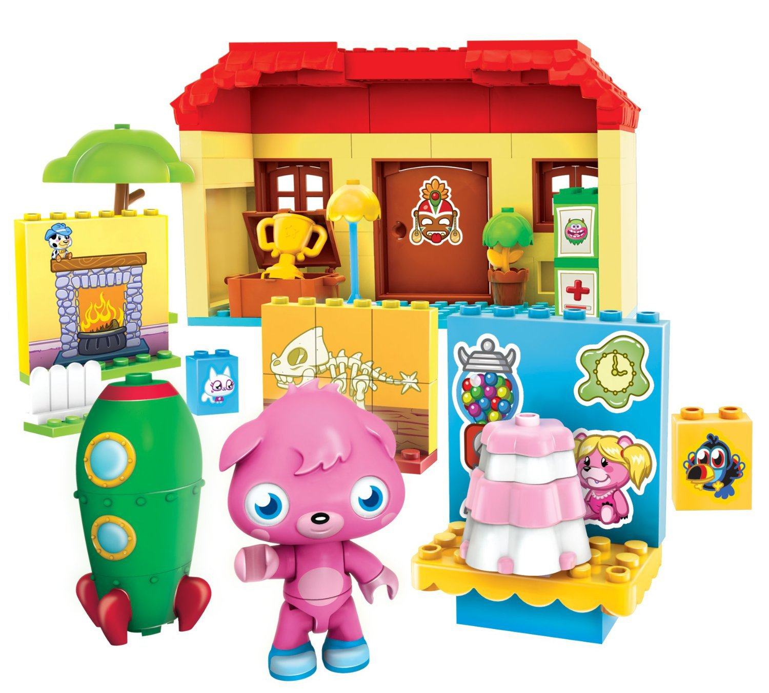 79 Pcs Mega Bloks Moshi Monster's House Building Poppet Boys Girls Gift Ages 4+