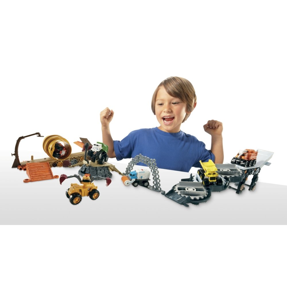 Matchbox Big Rig Buddies Scrap Yard Adventure Playset + Vehicle Gift Boys 3+