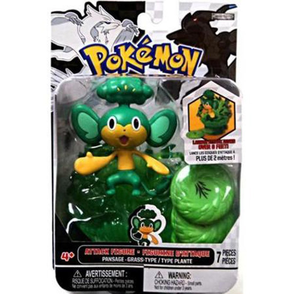 """7 Pcs Pokemon 3"""" Pansage Type Grass Attack Action Figure Collector Boy Gift 4+"""