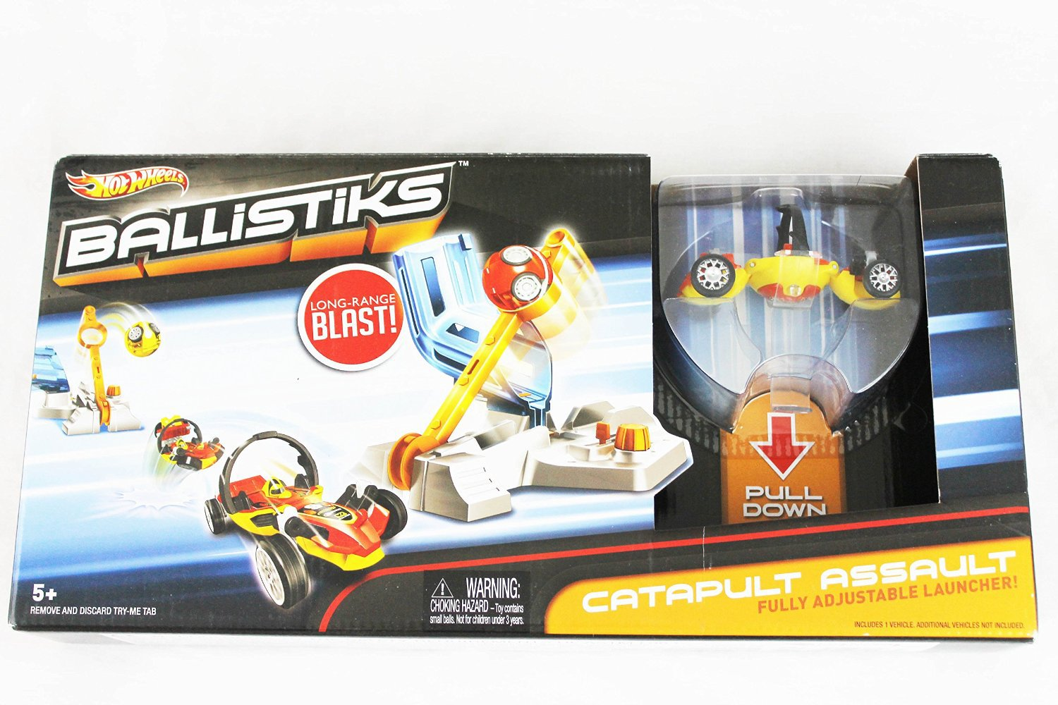 Hot Wheels Ballistiks CATAPULT ASSAULT Launcher + Car Playset Toy Boys Gift 4+