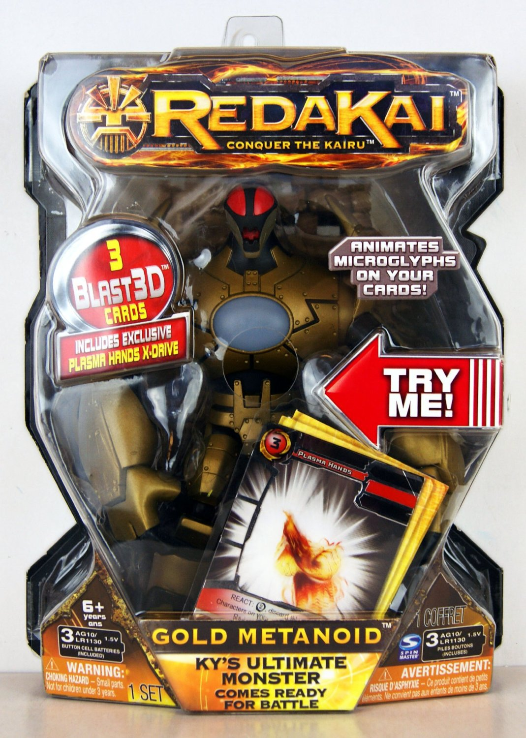 Redakai Gold Metanoid Ky's Ultimate Monster Deluxe Figure + Cards Gift Boys 6+