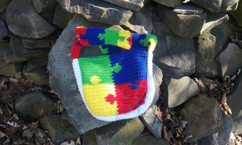 Autism Puzzle Shoulder Bag Pattern