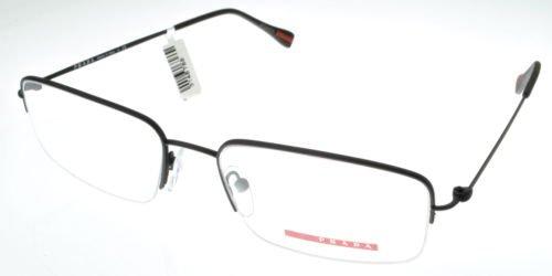 Eyeglasses Linea Rossa Prada PR 51FV DG01O1 Men Black Square