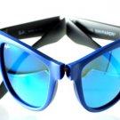 Ray Ban Unisex Sunglasses RB 4105 602017 50 Blue-Black Wayfarer-Folding