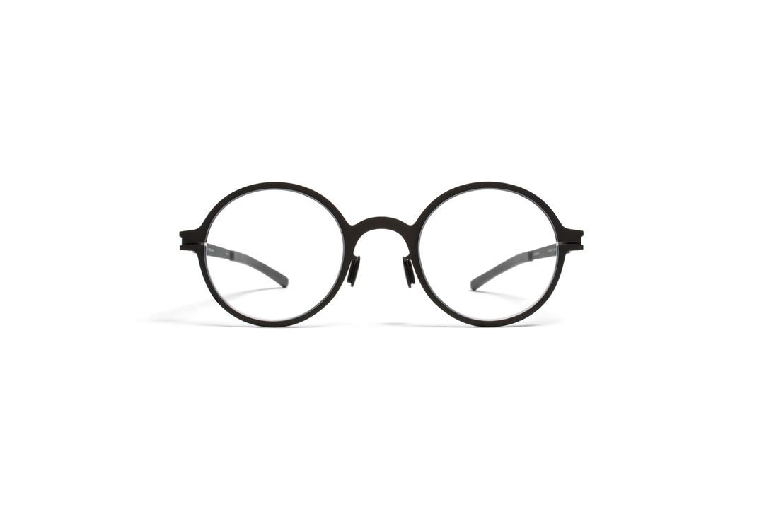 New Original Eyeglasses Mykita THELONIUS BLACK Unisex Black Round