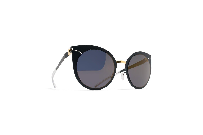 Sunglasses Mykita Decades GIULIETTA GOLD/INDIGO /256 Women Blue Cat-eye