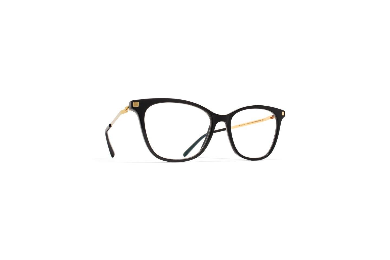 Eyeglasses Mykita LITE SESI C6/BLK/GGD/919 Unisex Black Gold Square Clear