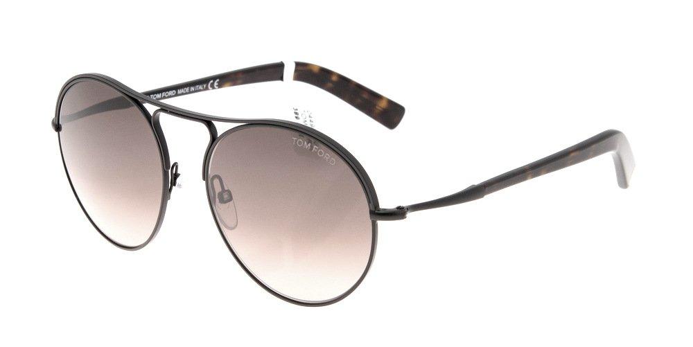 Sunglasses Tom Ford Jessie TF 0449/S 05K Unisex Black Round Gradient