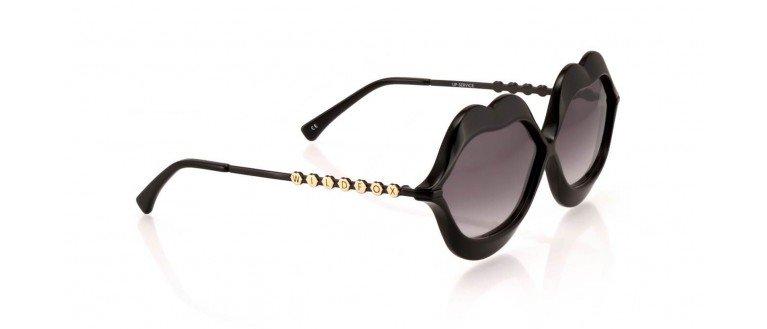Sunglasses Wildfox LIP SERVICE BLCK Women Black Square Gradient