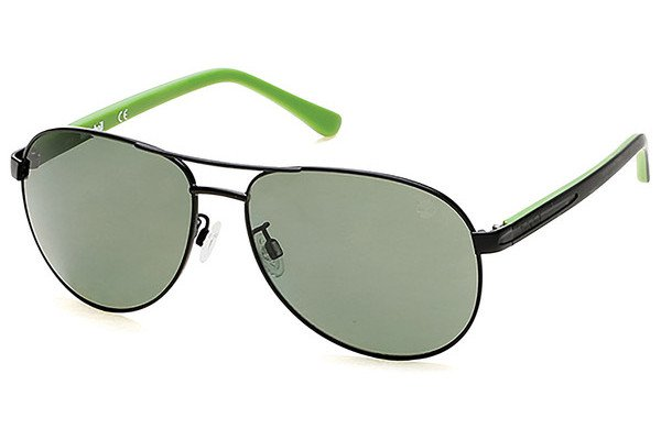 Sunglasses Timberland TB 9086 02R Unisex Black Aviator Polarized