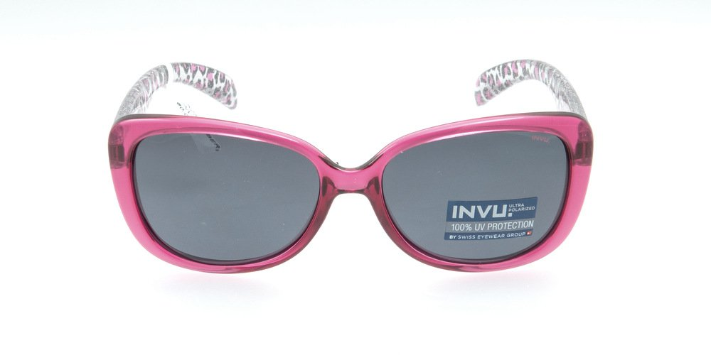 Sunglasses Invu K2509B BERRY Kid Fuchsia Square Polarized