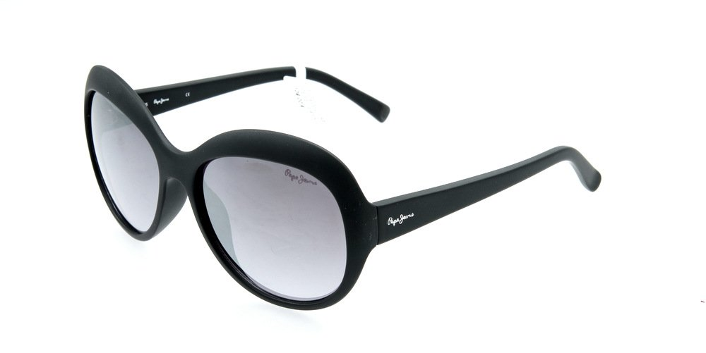 Sunglasses Pepe Jeans Kelly PJ7200 C1 Women Black Square Silver Mirrored
