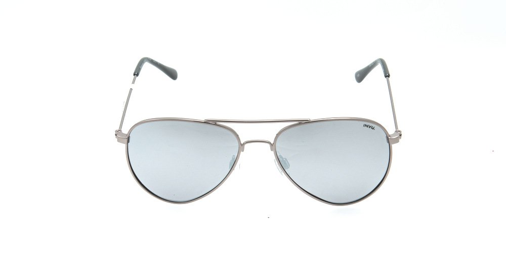 Sunglasses Invu K1501A GUN Kid Silver Aviator Polarized