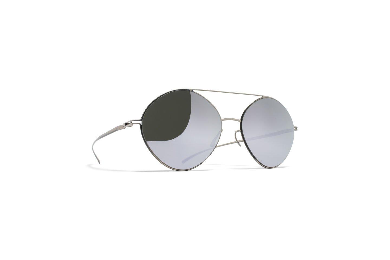 Sunglasses Mykita Maison Margiela MMESSE008 E1/SILVER Unisex Silver Round Silver