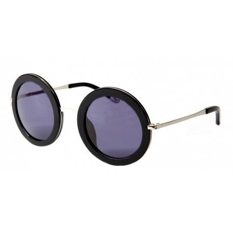 Sunglasses Waiting for the Sun Slash Collection FADA C2 Women Black Round