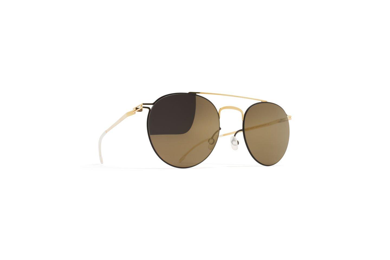 Sunglasses Mykita Decades PEPE GOLD/TERRA/172 Unisex Gold Round Light Gold