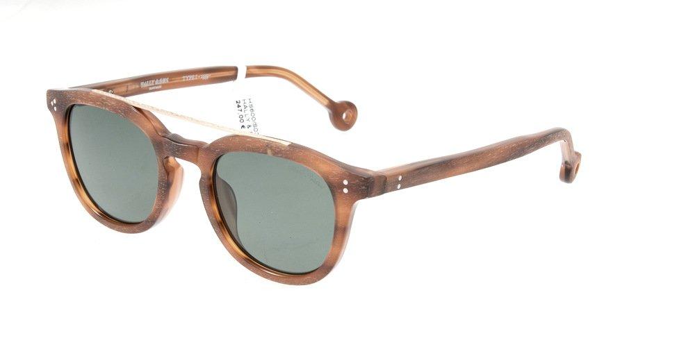 Sunglasses Hally & Son HS600 S03 Unisex Brown Round Polarized