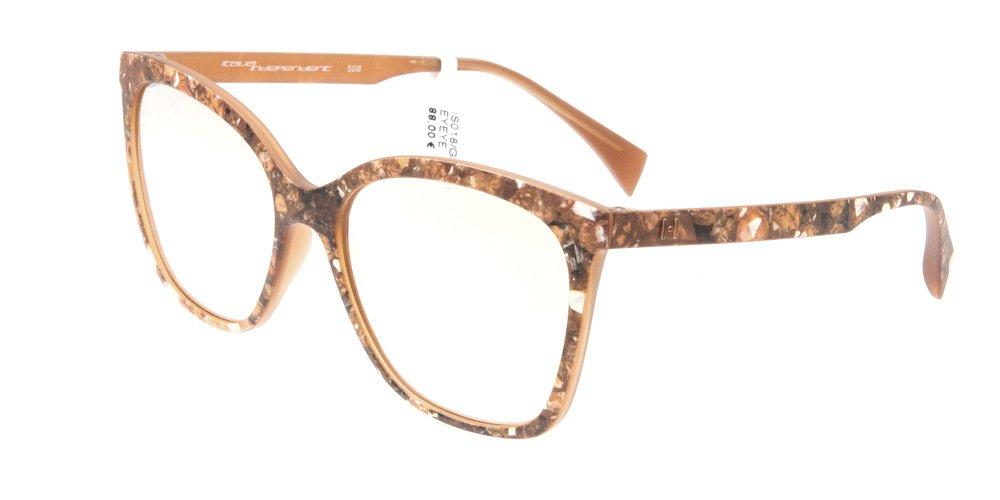 Sunglasses Eyeye IS018 GEM.120 Women Brown Square Gold Mirrored