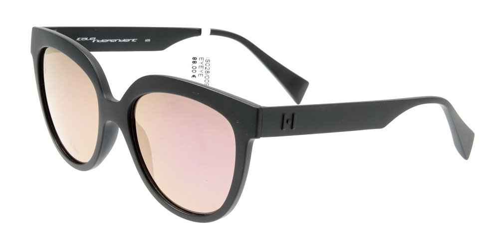 Sunglasses Eyeye IS028 009.000 Women Black Square Fuchsia Mirrored