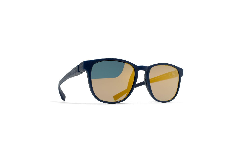 Sunglasses Mykita Mylon LEMAS 325/MD25/NAVYBLUE Unisex Blue Square Gold Mirrored