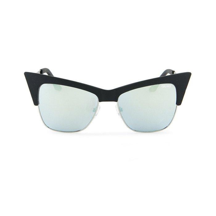Sunglasses Quay Desi Perkins Collection T.Y.S.M BLK/MINT Women Black Cat-eye
