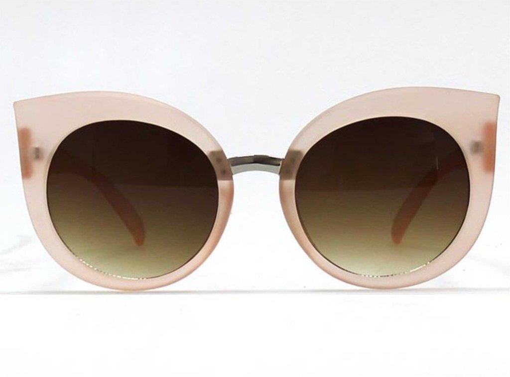 Sunglasses Quay DREAM OF ME BEIGE/BRN Women Beige Cat-eye Gradient