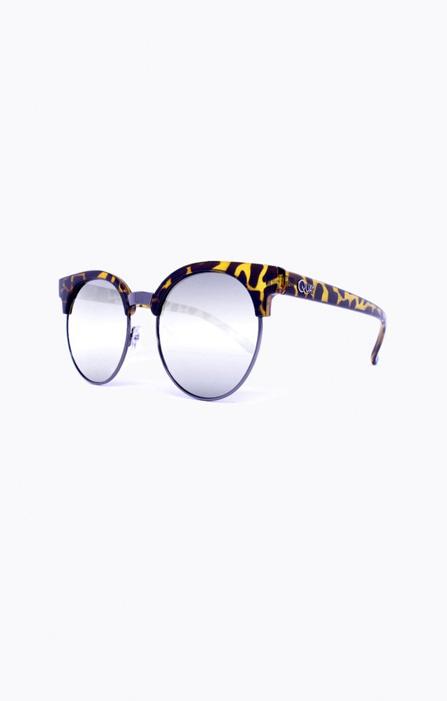 Sunglasses Quay HIGHLY STRUNG TORT/SLV Women Tortoise Cat-eye Silver Mirrored