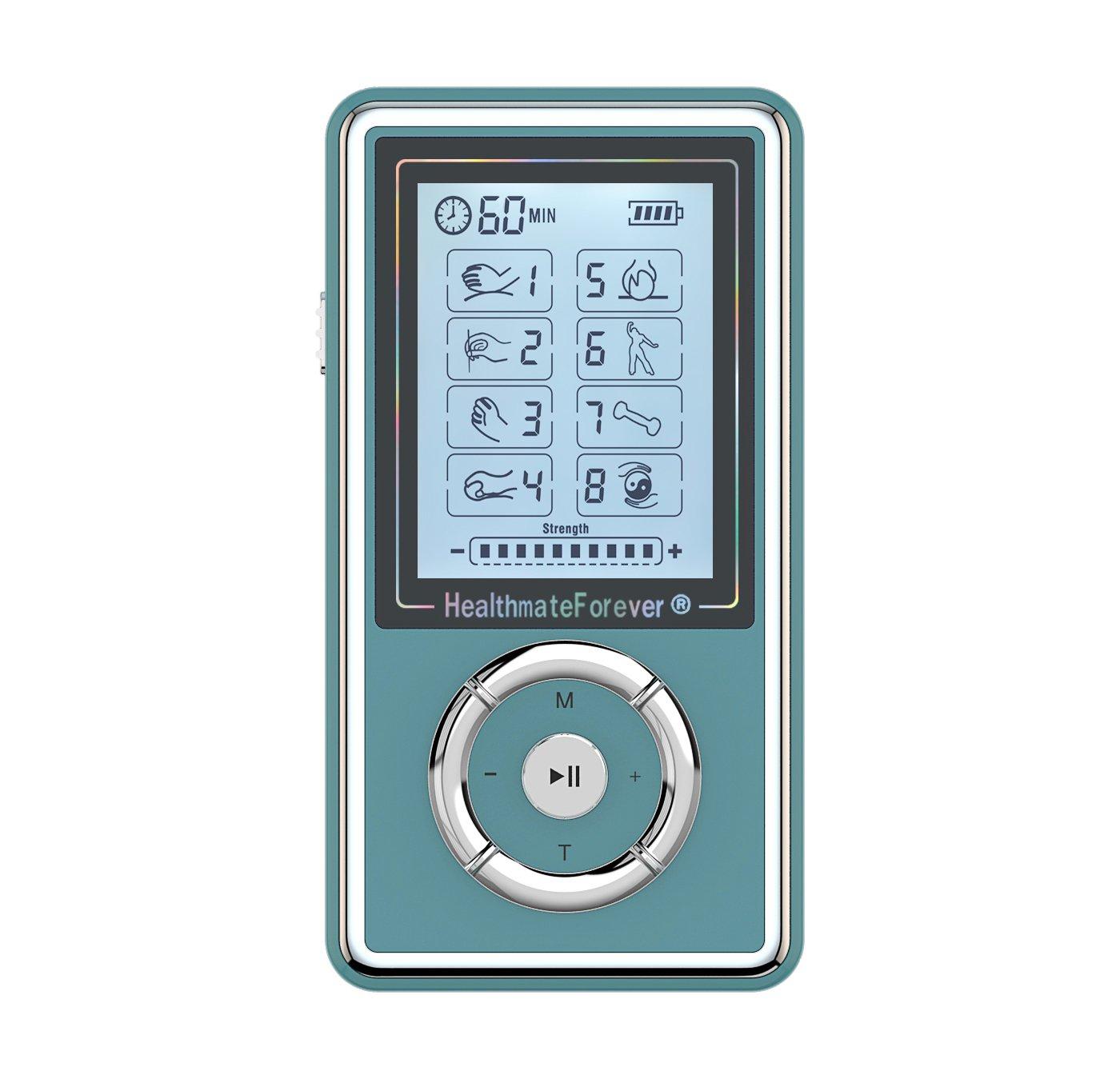 SJ8GL HealthmateForever TENS Unit Electrical Muscle Stimulator Blue