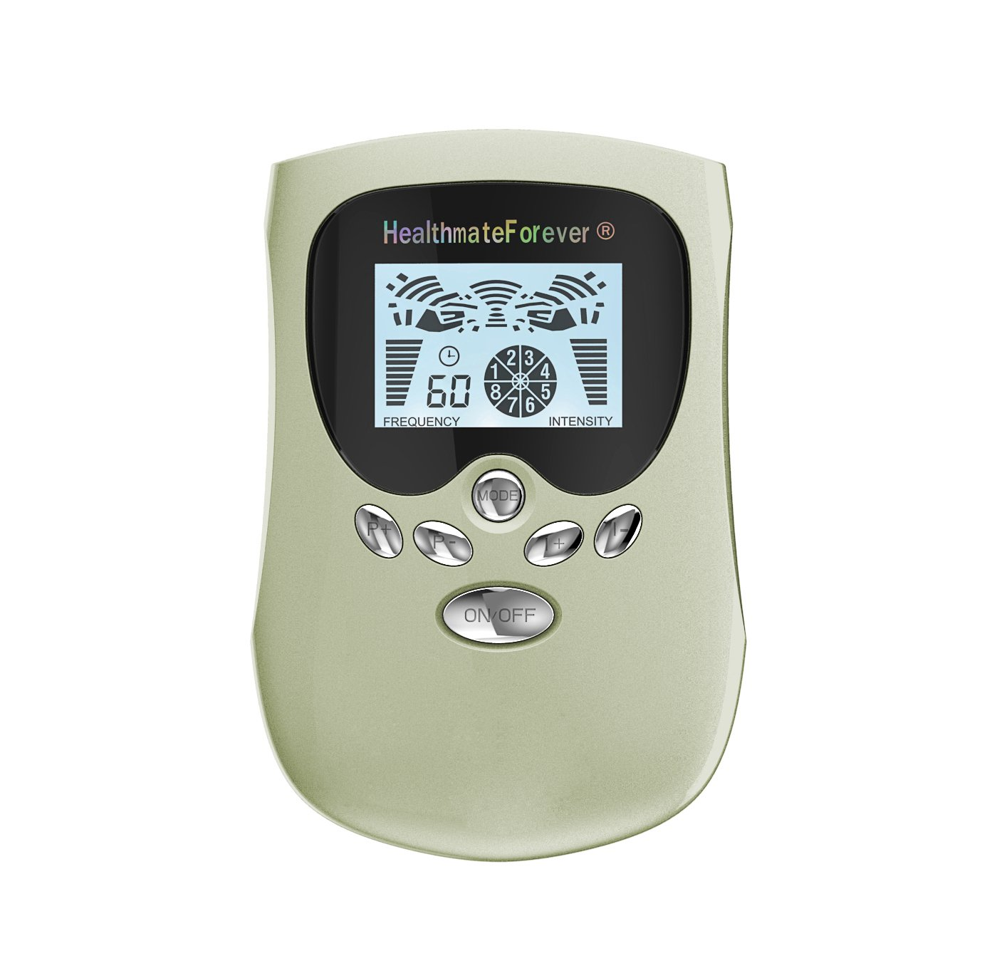 PM8 HealthmateForever TENS Unit Electrical Muscle Stimulator Green + 4in1 Leads Wire and 1 Pair of P