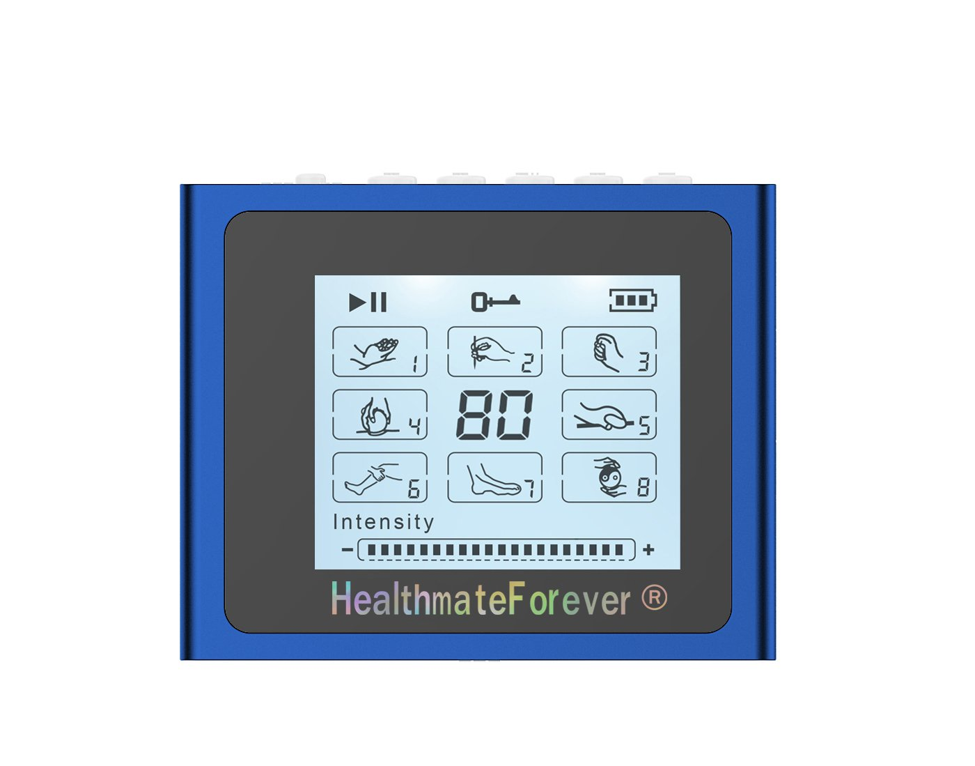 NTS8 HealthmateForever TENS Unit Electrical Muscle Stimulator Blue