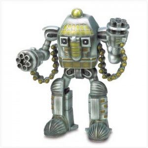 Astronaut Robot Warrior Figurine