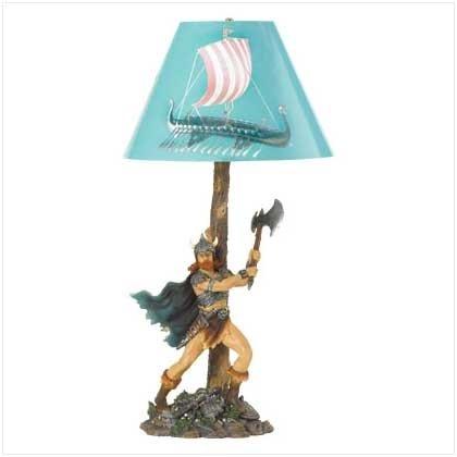 Viking Warrior Lamp