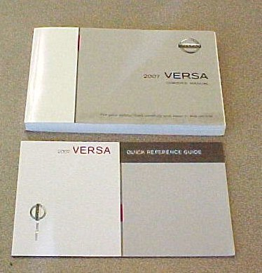 New 2007 Nissan Versa Factory Owners Manual