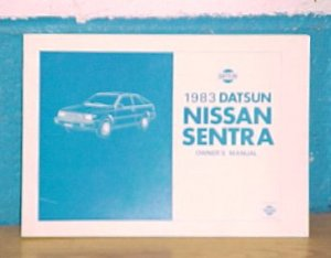 New 1983 Datsun Nissan Sentra Owners Manual