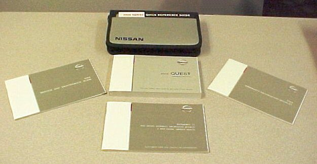 New 2004 Nissan Quest Factory Owners Manual Set