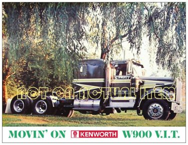 Movin' On Kenworth in the country Postcard Magnet - Beautiful item