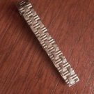 SOLID STERLING SILVER TEXTURED MENS TIE BAR - 3 GRAMS