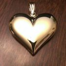 14K YELLOW GOLD LARGE POLISHED PUFFED HEART PENDANT/CHARM  (3.1 GM - 1.5 INCHES)