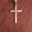 14K YELLOW GOLD SOLID ETCHED DESIGN  CROSS  CHARM / PENDANT  RELIGIOUS