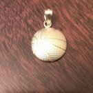 14K YELLOW GOLD SMALL BASKETBALL CHARM / PENDANT - 1 GM  0.8""