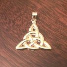 14K YELLOW GOLD POLISHED CELTIC TRINITY CHARM / PENDANT  (2.1 GM - 1.2 INCHES)