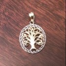 14K GOLD TWO TONE TREE OF LIFE  CHARM PENDANT - 0.9  GRAM