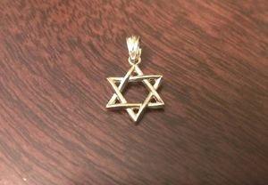 14K YELLOW GOLD SMALL POLISHED STAR OF DAVID CHARM / PENDANT  -  0.78 GRAMS