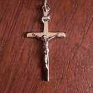 STERLING SILVER INRI CRUCIFIX  CROSS  CHARM PENDANT- 2.2 GRAMS