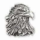 ANTIQUED STERLING SILVER EAGLE HEAD PENDANT / CHARM -  15.7  GRAMS