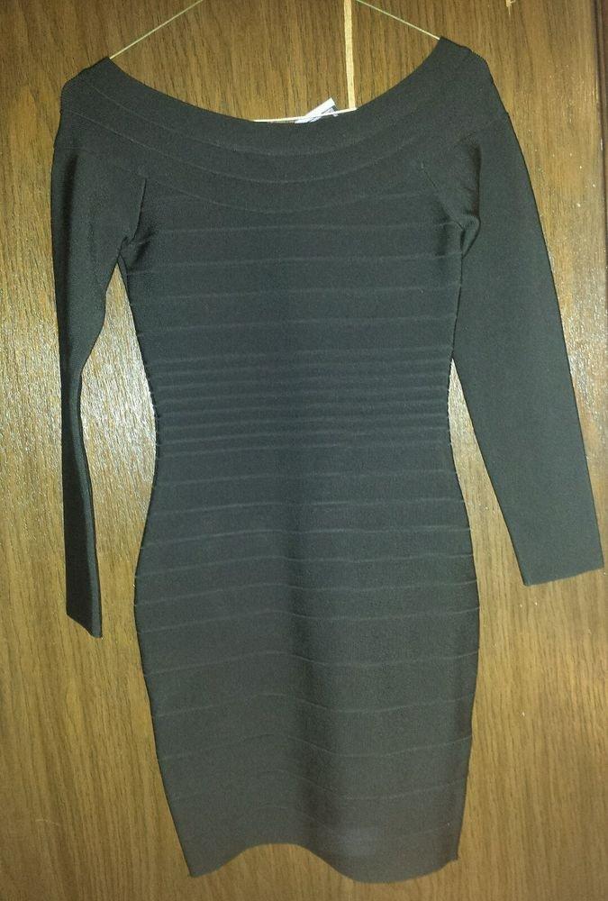Herve Leger knit dress HRT6C667-026 W18 Black Authentic