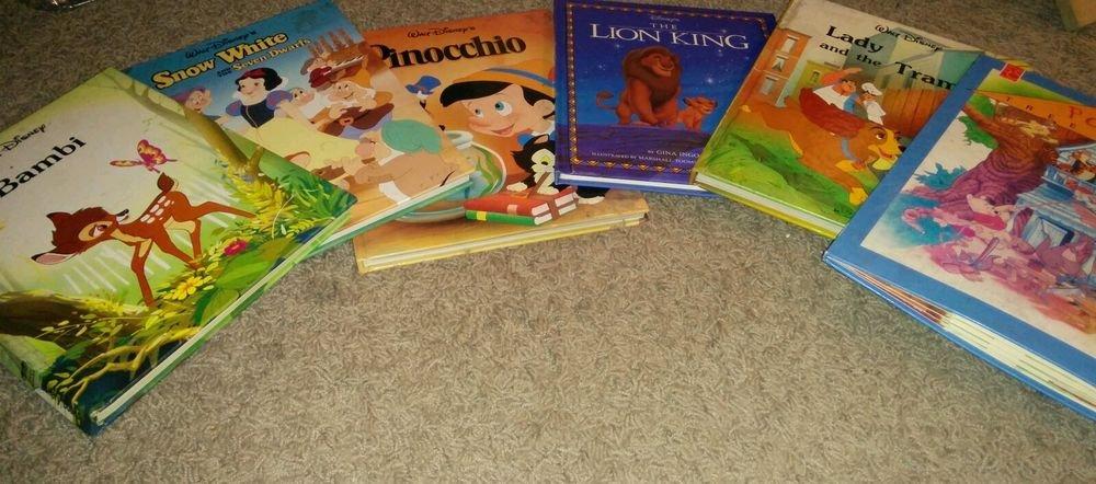 Walt Disney books set : The Lion King, Pinocchio Ages 4-8, English, Hardcover